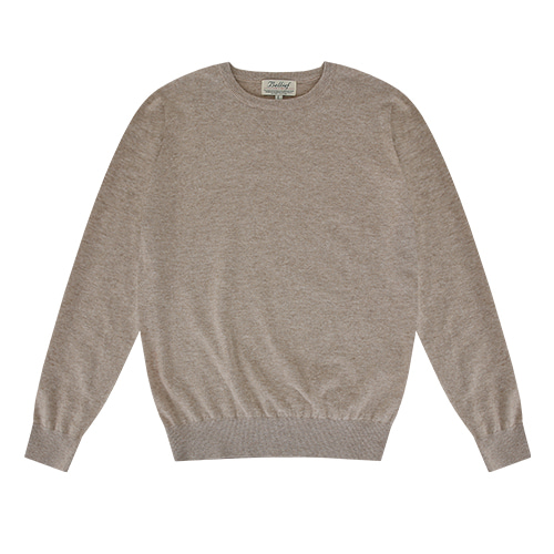 [벨리프] Essential Crew neck Knit (Oatmeal)
