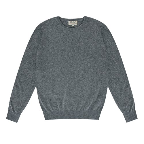 [벨리프] Essential Crew neck Knit (Dark Grey)