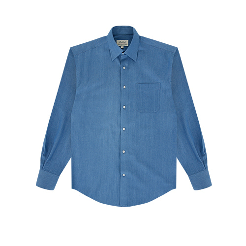 [벨리프] Light Denim solid shirts (Blue)