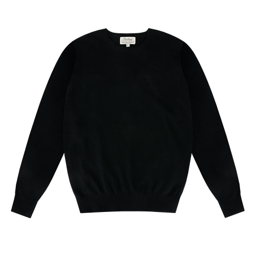 [벨리프] Essential Crew neck Knit (Black)