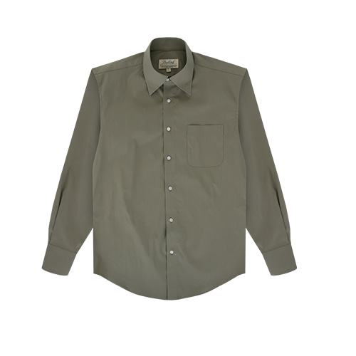 [벨리프] Essential point collar solid shirts (Olive)