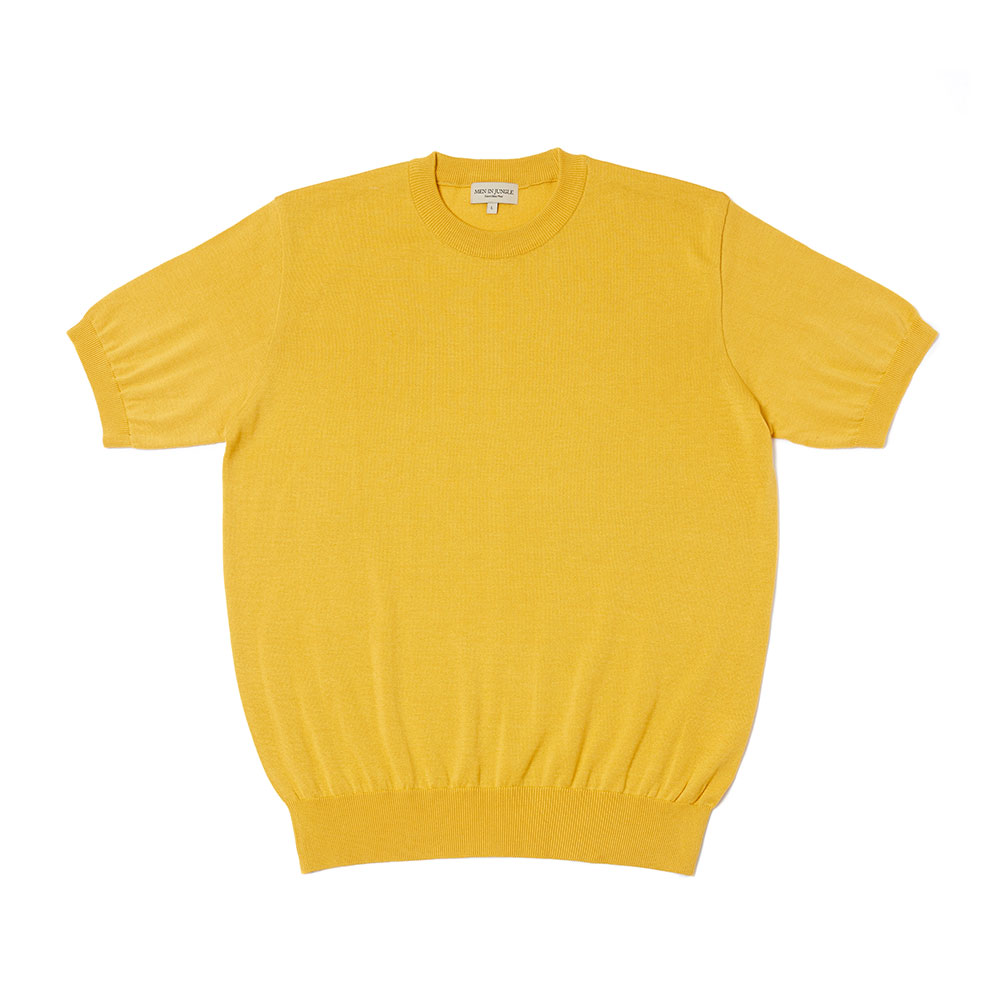 [맨인정글] 21 Piccola Supima Cotton Crew neck Knit-  MUSTARD